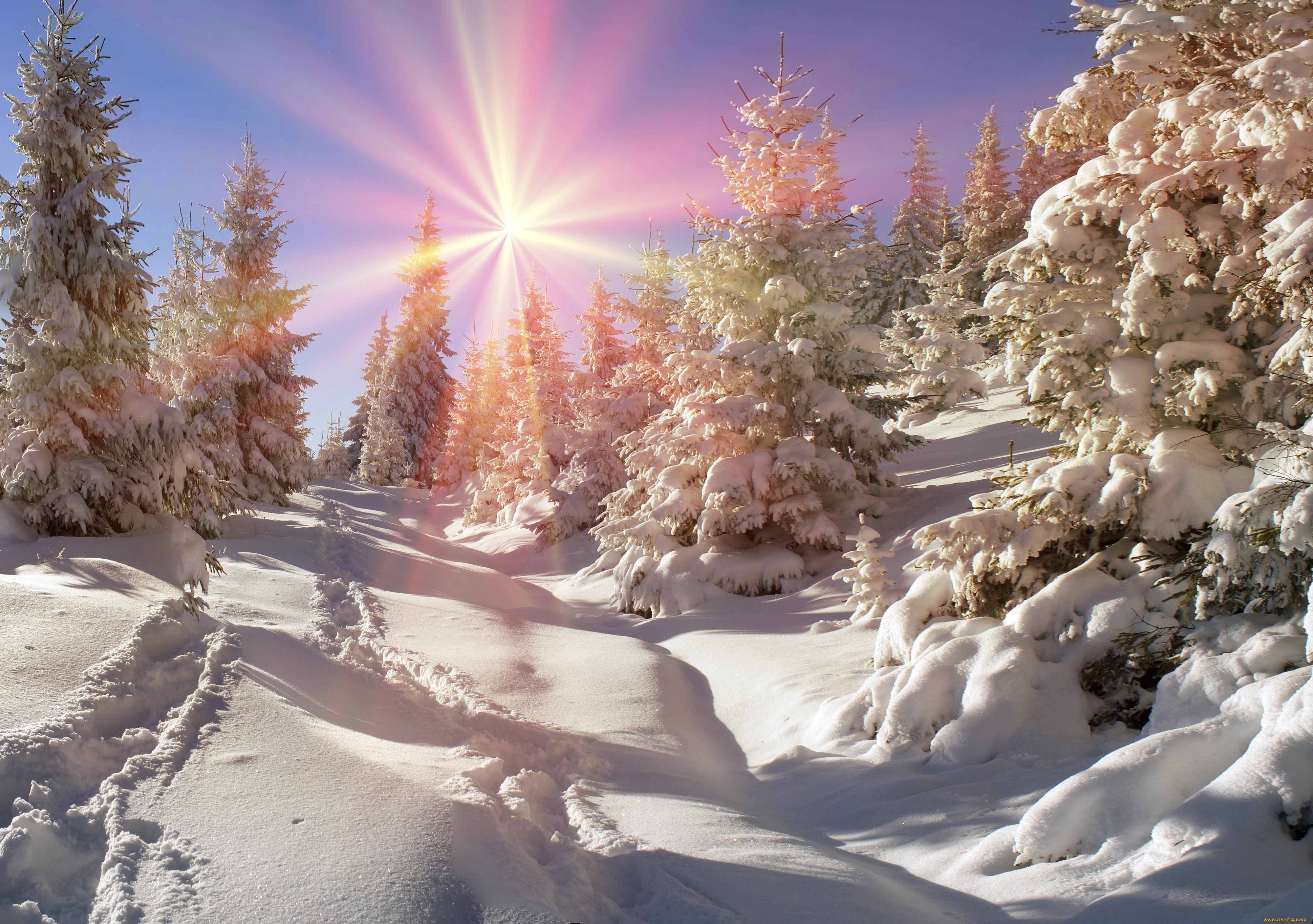 Картинки русской природы красивые зима